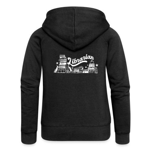 0323 Funny design Librarian Librarian - Women's Premium Hooded Jacket