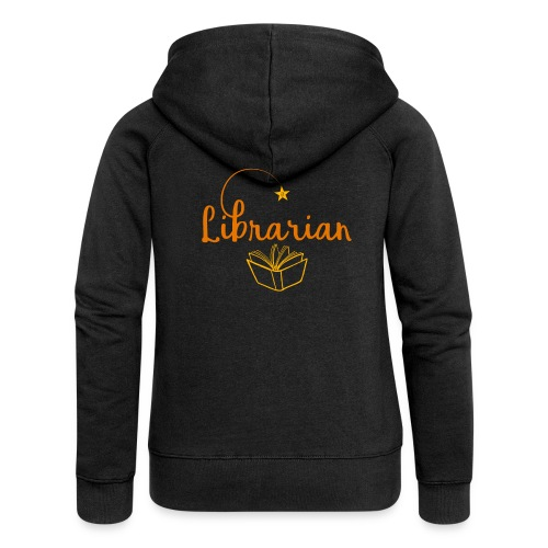 0327 Librarian Librarian Library Book - Women's Premium Hooded Jacket
