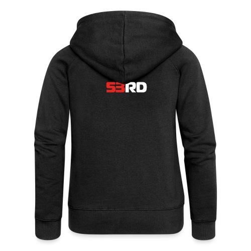 53RD Logo lang (weiss-rot) - Frauen Premium Kapuzenjacke