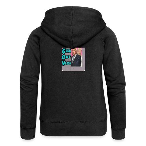 GeekOut Vlogs NES logo - Women's Premium Hooded Jacket