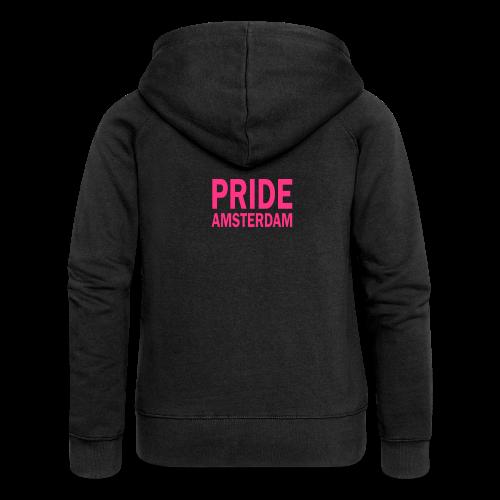 Pride Amsterdam in roze - Vrouwenjack met capuchon Premium