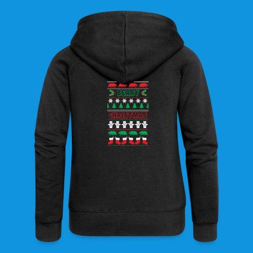 Beary Christmas.png - Women's Premium Hooded Jacket