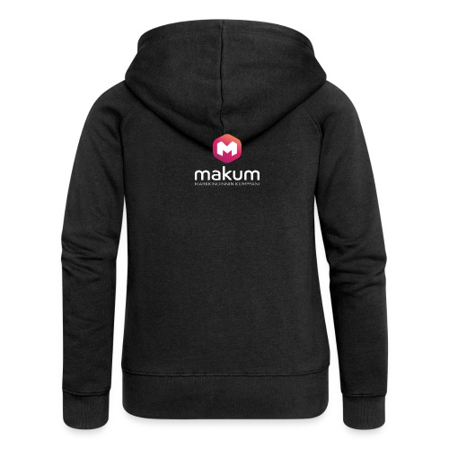 MAKUM Logo ja teksti - Naisten Girlie svetaritakki premium