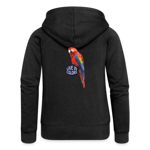 Parrot - Live in colors - Women's Premium Hooded Jacket