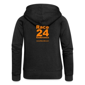 Race24 Large Logo - Women's Premium Hooded Jacket