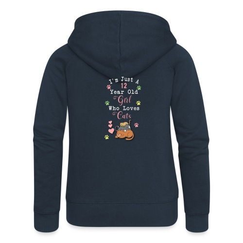 I'm just a 12 year old girl who loves cats - Veste à capuche Premium Femme