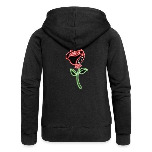 Rose - Frauen Premium Kapuzenjacke