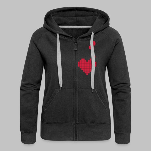 heart and balloons - Women's Premium Hooded Jacket
