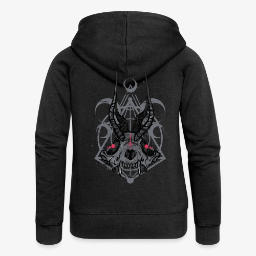 Fox Skull Demonlord - wh Logo - Frauen Premium Kapuzenjacke