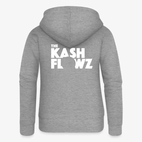 The Kash Flowz Official Logo White - Veste à capuche Premium Femme