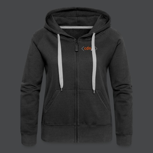 cdnjs Subtle Logo (Zip-Up Hoodies) - Women's Premium Hooded Jacket