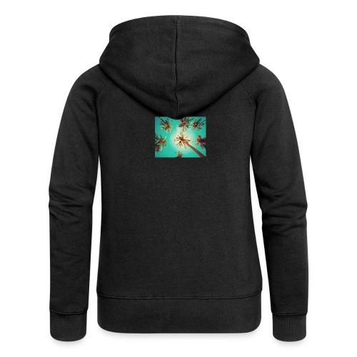 palm pinterest jpg - Women's Premium Hooded Jacket