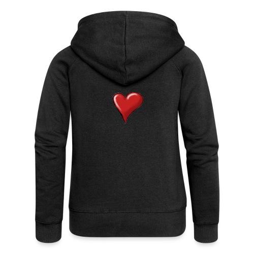 Love (coeur) - Veste à capuche Premium Femme