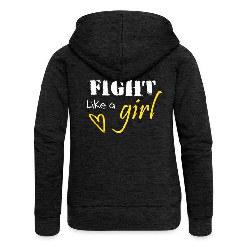 fightlikeagirl_transparen - Naisten Girlie svetaritakki premium