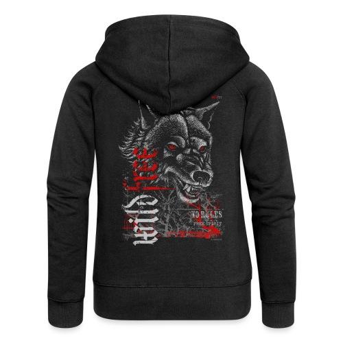 WILDFREE | WOLF - Frauen Premium Kapuzenjacke