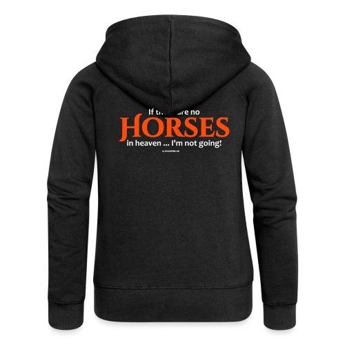 no horses in heaven_pfas - Frauen Premium Kapuzenjacke