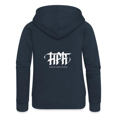 HFR - Logotipi vettoriale - Felpa con zip premium da donna