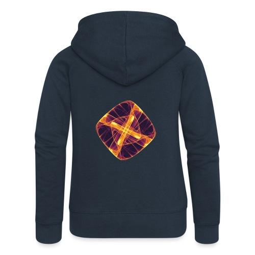 Chakra Mandala Mantra OM Chaos Star Circle 12255i - Women's Premium Hooded Jacket