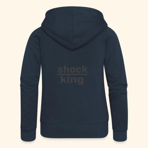 shock king funny - Felpa con zip premium da donna