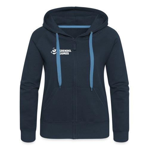 grendel text - Women's Premium Hooded Jacket