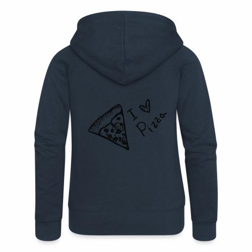 I LOVE PIZZA - Frauen Premium Kapuzenjacke