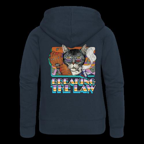 Crime Cat- Breaking the Law - Rozpinana bluza damska z kapturem Premium