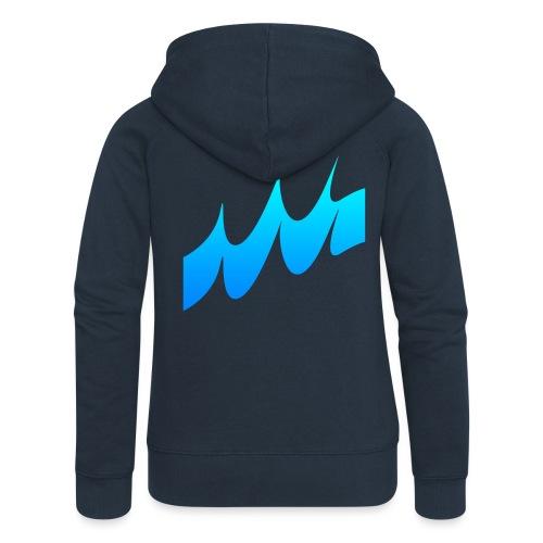Ocean Waves or just Deep - Women's Premium Hooded Jacket
