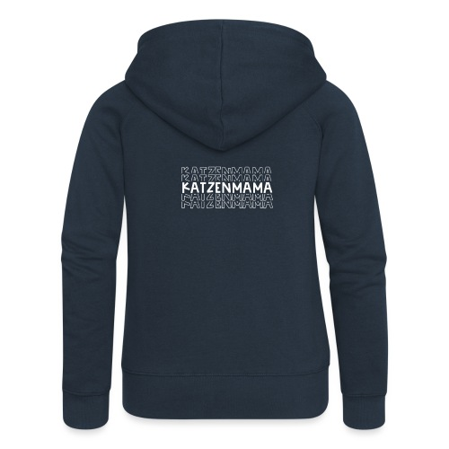Katzenmama - Frauen Premium Kapuzenjacke