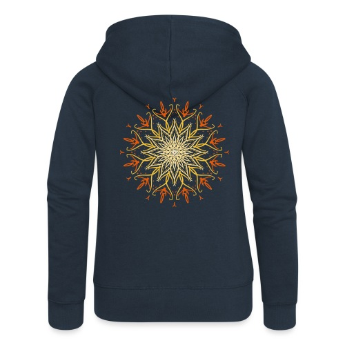 Mandala of fire - Women's Premium Hooded Jacket