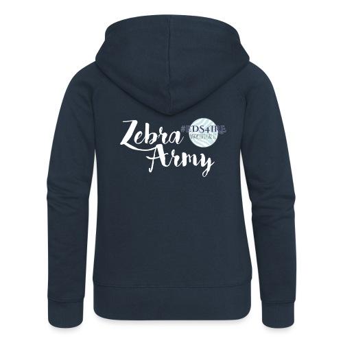 Zebra Army (white) - Women's Premium Hooded Jacket