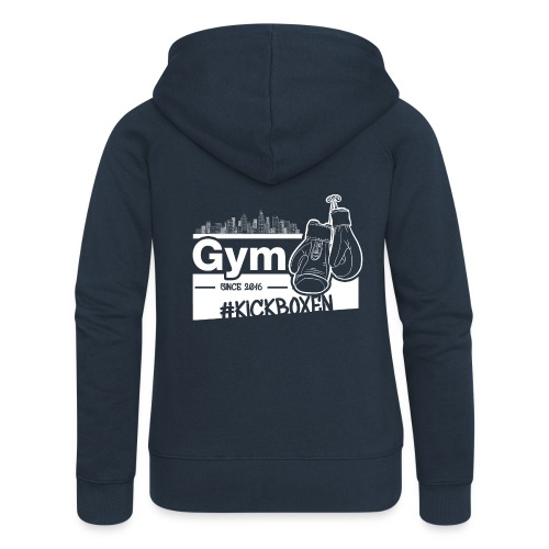 Gym Druckfarbe weiss - Frauen Premium Kapuzenjacke