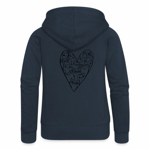 I Love Cats - Women's Premium Hooded Jacket