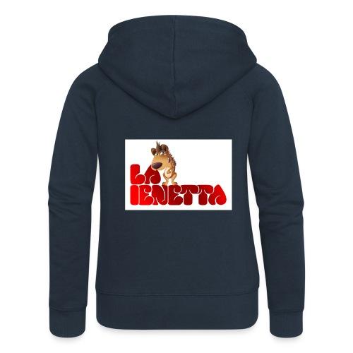 La Nuova Ienetta - Felpa con zip premium da donna