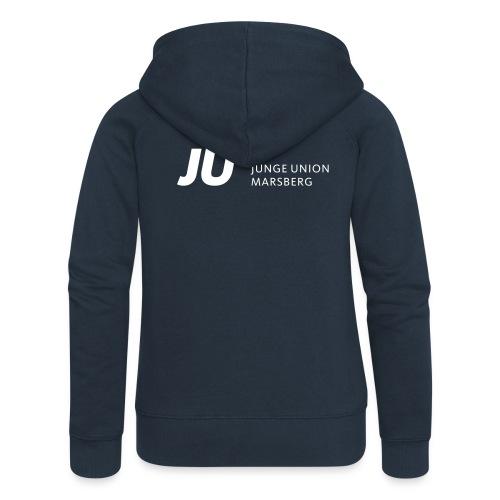 JUM_JU-Schriftzug2 - Frauen Premium Kapuzenjacke