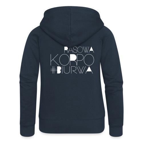 Rasowa Korpo Biurwa BLACK - Rozpinana bluza damska z kapturem Premium
