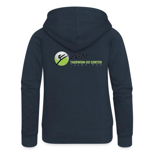 logo breit mit glow - Frauen Premium Kapuzenjacke