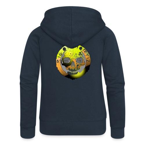 Rigormortiz Metallic Yellow Orange Design - Women's Premium Hooded Jacket