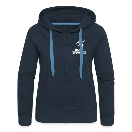 sg geest 05 logo navy - Frauen Premium Kapuzenjacke