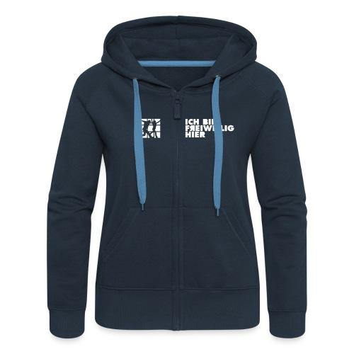 hoodie vereinfacht 01 - Frauen Premium Kapuzenjacke