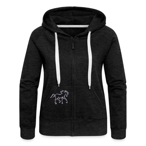 Pferd - Frauen Premium Kapuzenjacke