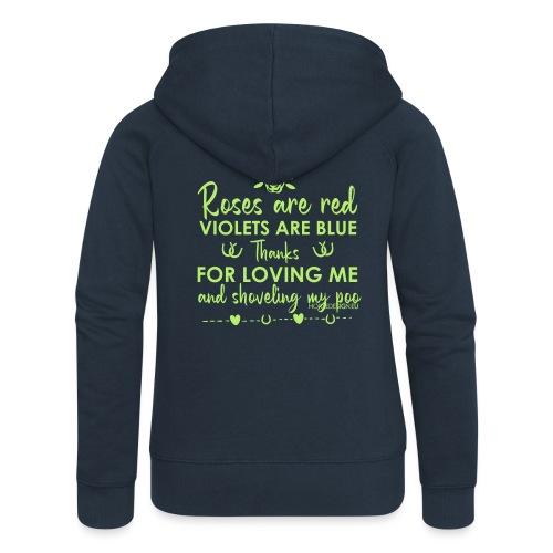 Rosen sind rot -Liebe - Pferdespruch - Frauen Premium Kapuzenjacke