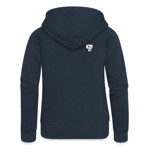 Poco Loco skull logo white - Women's Premium Hooded Jacket