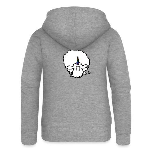 Ewenicorn - to tęcza jednorożca owiec! - Rozpinana bluza damska z kapturem Premium