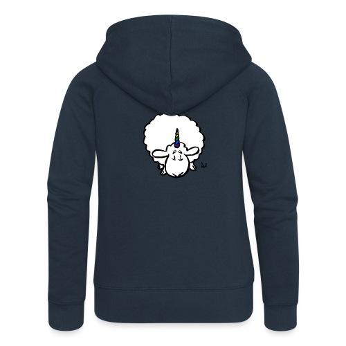 Ewenicorn - it's a rainbow unicorn sheep! - Women's Premium Hooded Jacket