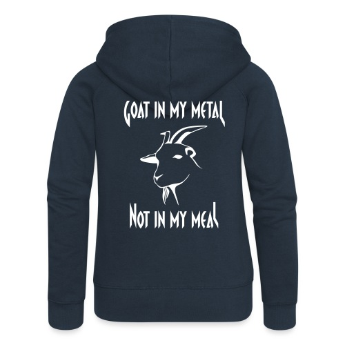 Goat in my metal not in my meal, white - Frauen Premium Kapuzenjacke