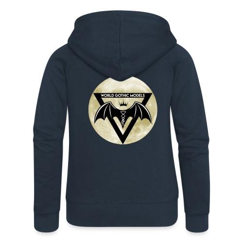 Single WGM Logo Moon Design - Women's Premium Hooded Jacket