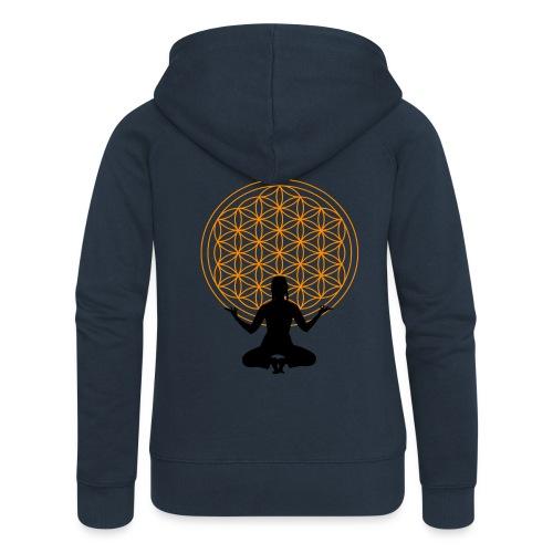 fleur de vie yoga 3 - Veste à capuche Premium Femme