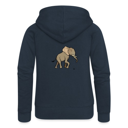 Elefante africano - Felpa con zip premium da donna