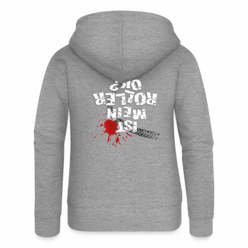 Ist mein Roller ok? (weißer Text) - Women's Premium Hooded Jacket