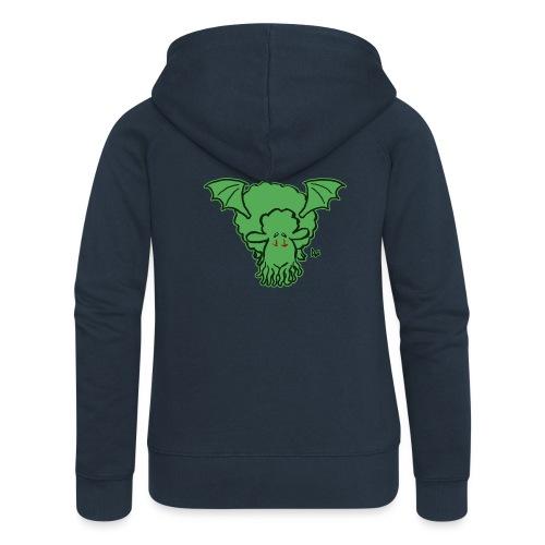 Cthulhu Sheep - Rozpinana bluza damska z kapturem Premium